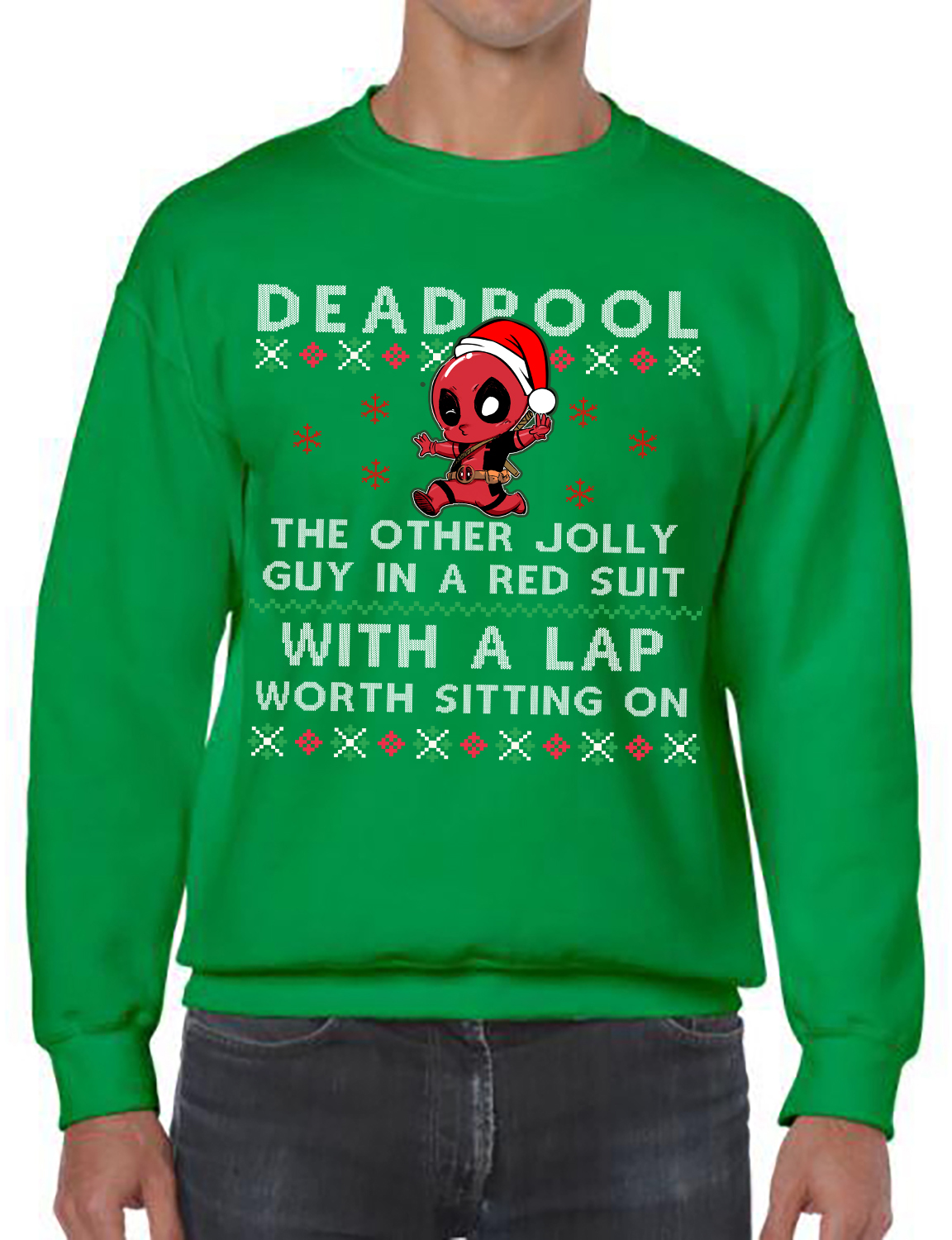 Deadpool, The Other Jolly Guy In A Red Suit With A Lap Worth Sitting ...