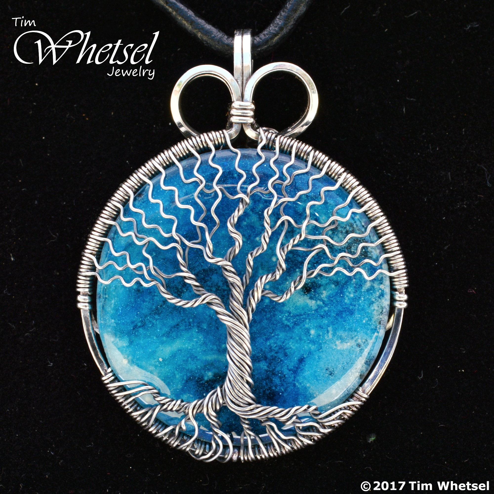 Blue Orgone - Wire Wrapped Tree of Life Necklace Pendant - Handmade ...