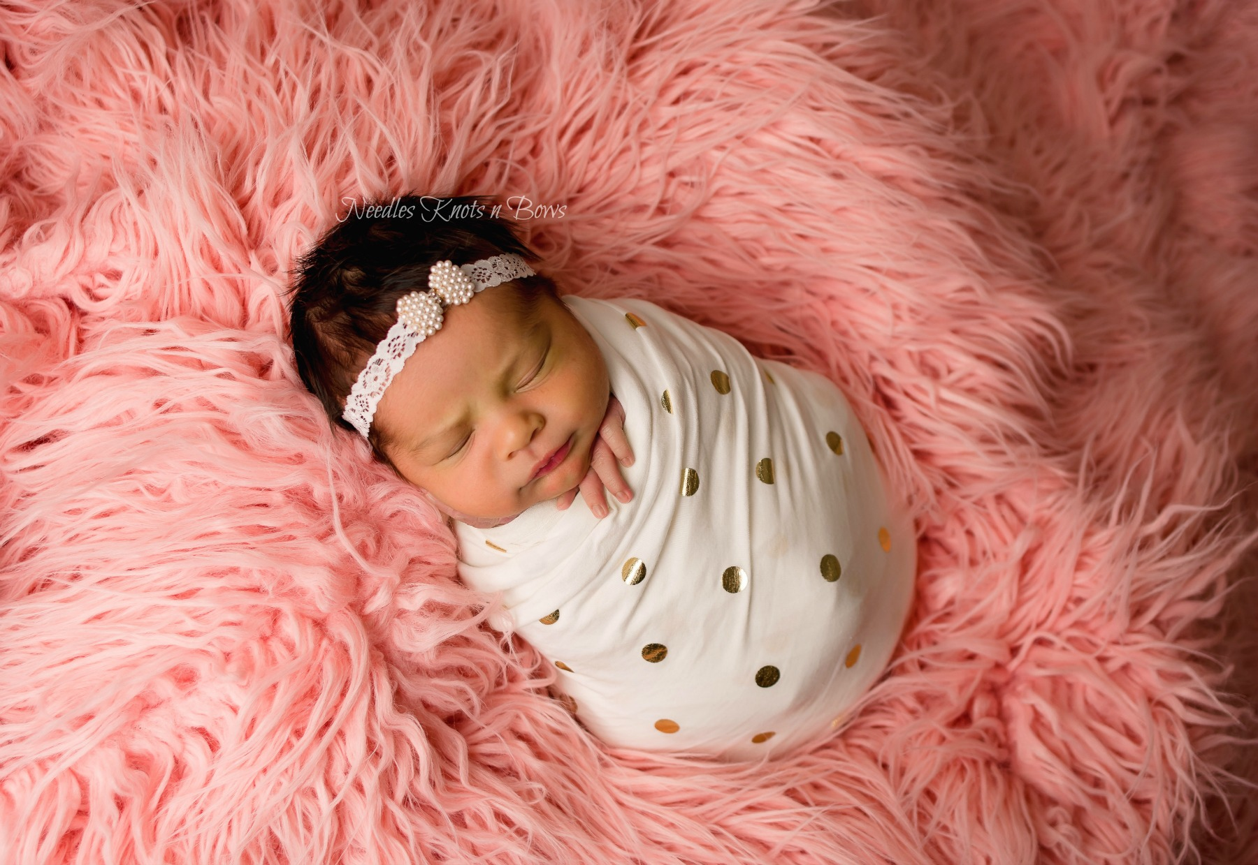 ... Baby Girls Pearl Bow Lace Headband 35003170bae