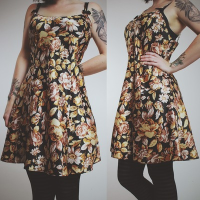 Claimed  shewhorages - vintage 90s fall vibes floral satin dress 930fc781b