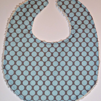 Baby bib (Amy Butler fabric, with chenille back)