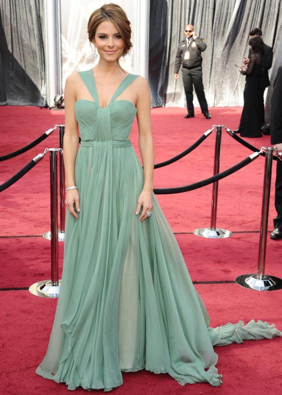 W7 Mint Chiffon Long Prom Dresses,Charming Lady Red Carpet Evening ...
