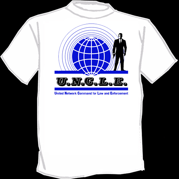 Man from uncle t shirt silk screened screenprinted 60 39 s for Silk screen tee shirts online