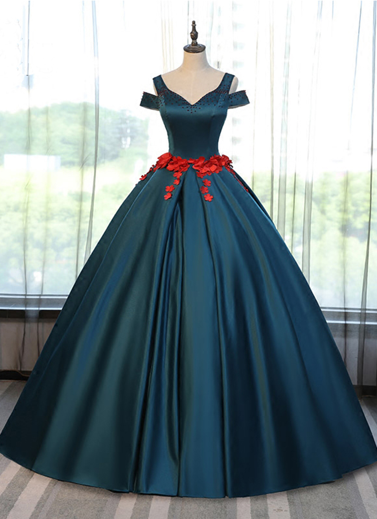 Cheap Prom Dresses by SweetheartDress · Simple deep green off ...