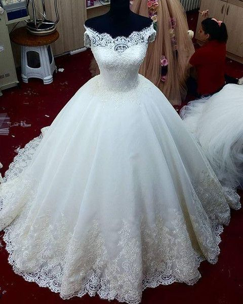 Charming Wedding Dress, Tulle Ball Gown Wedding Dresses, Elegant ...