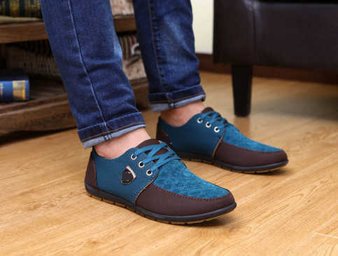 luxury brand casual mens canvas shoes high quality fashion