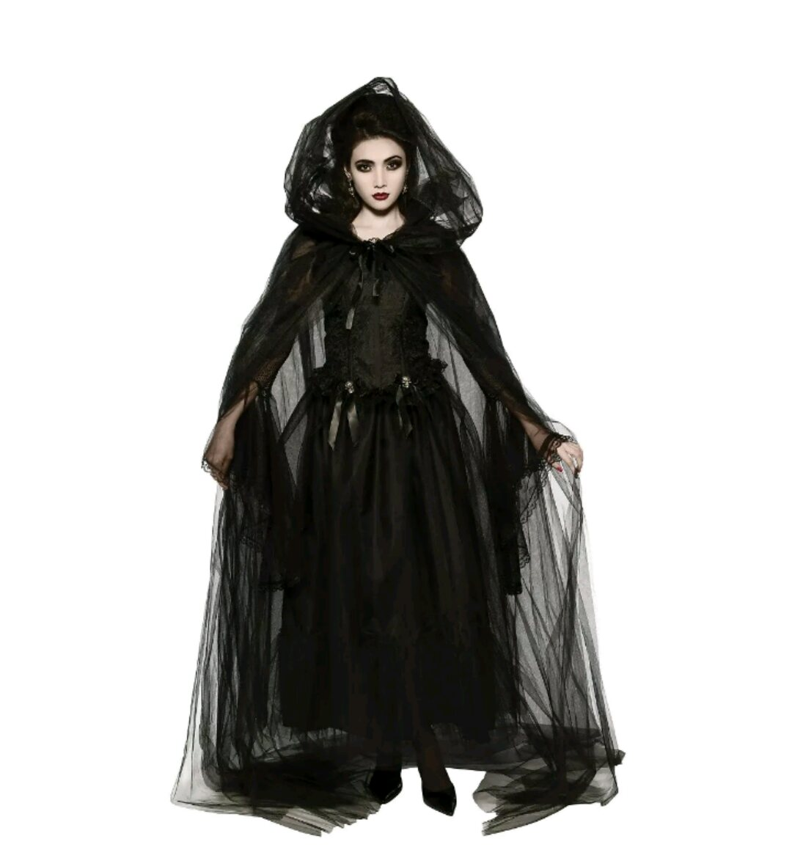 black hooded cape costume halloween fancy dress · nice store