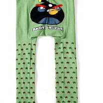 Angry Birds Green with Star Design Legging Pants for Baby 3m to Kids 4T Unisex Boys & Girls