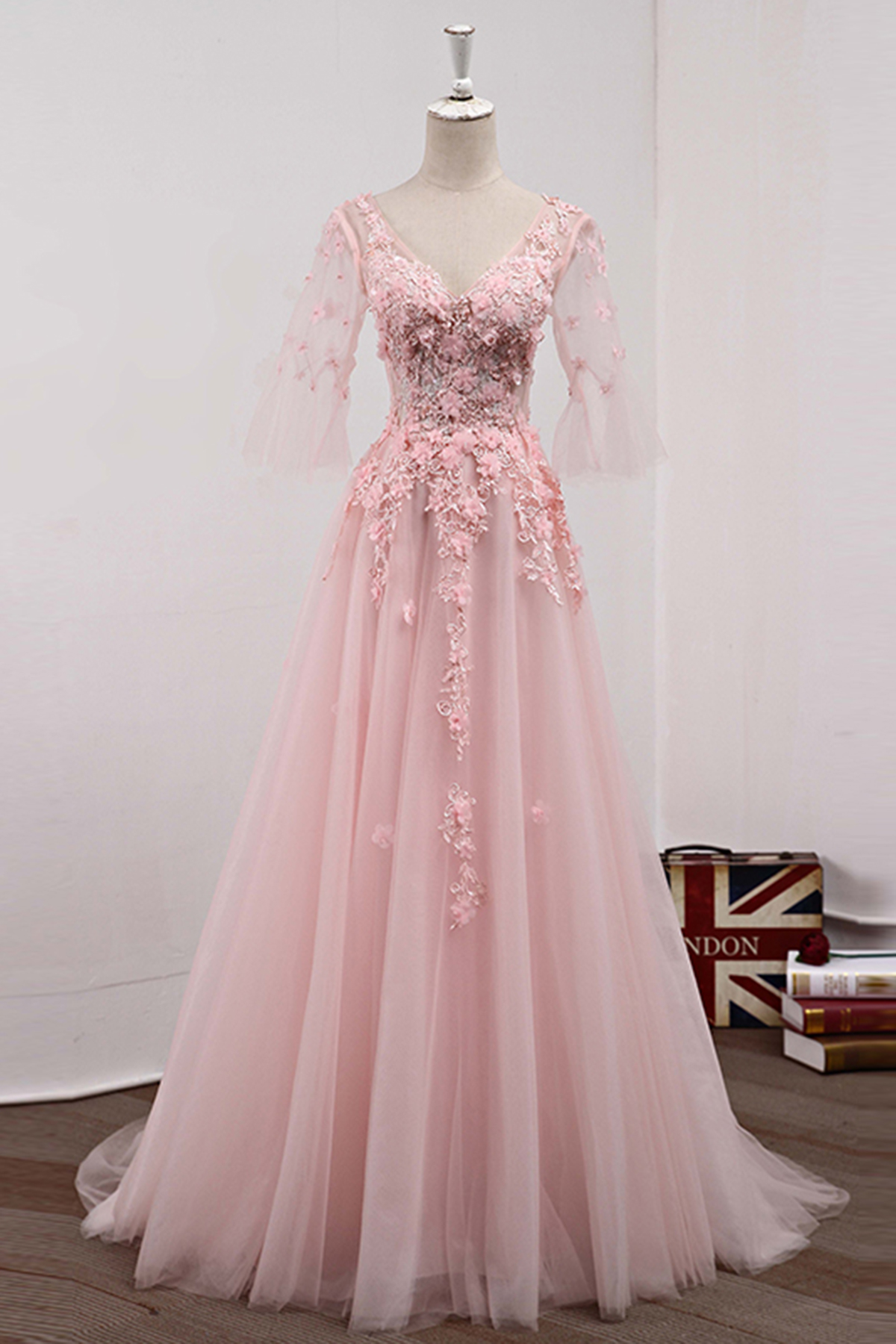 Cheap Prom Dresses by SweetheartDress · Pink tulle long sweet16 prom ...