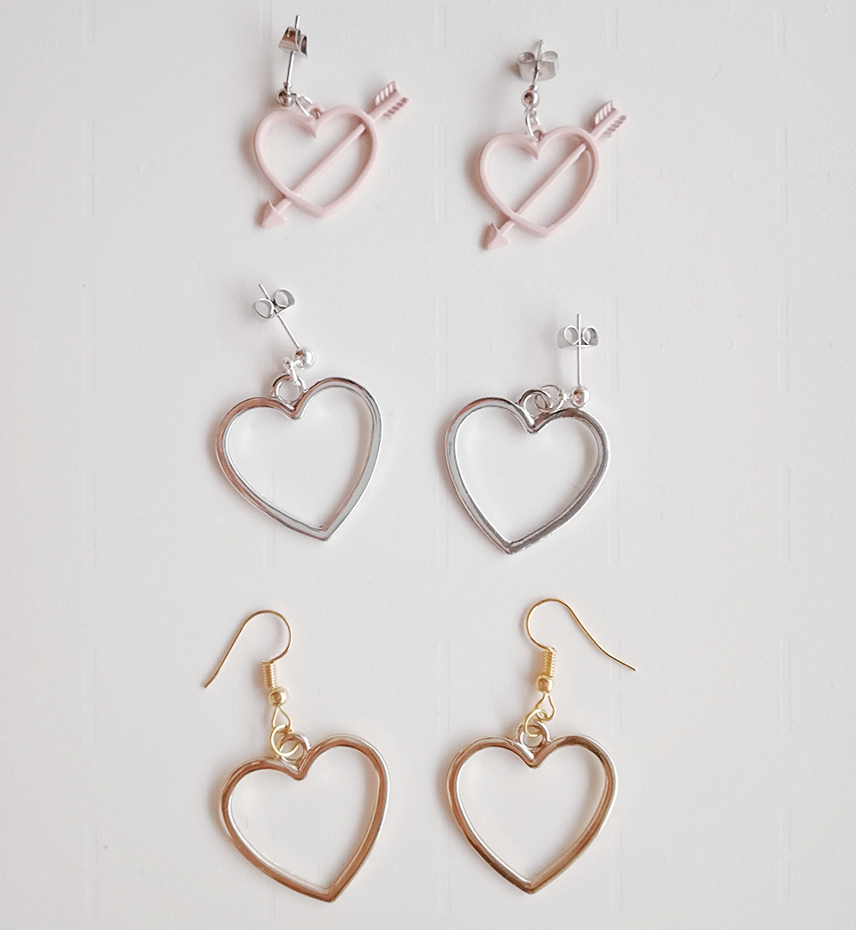 earrings heart front super