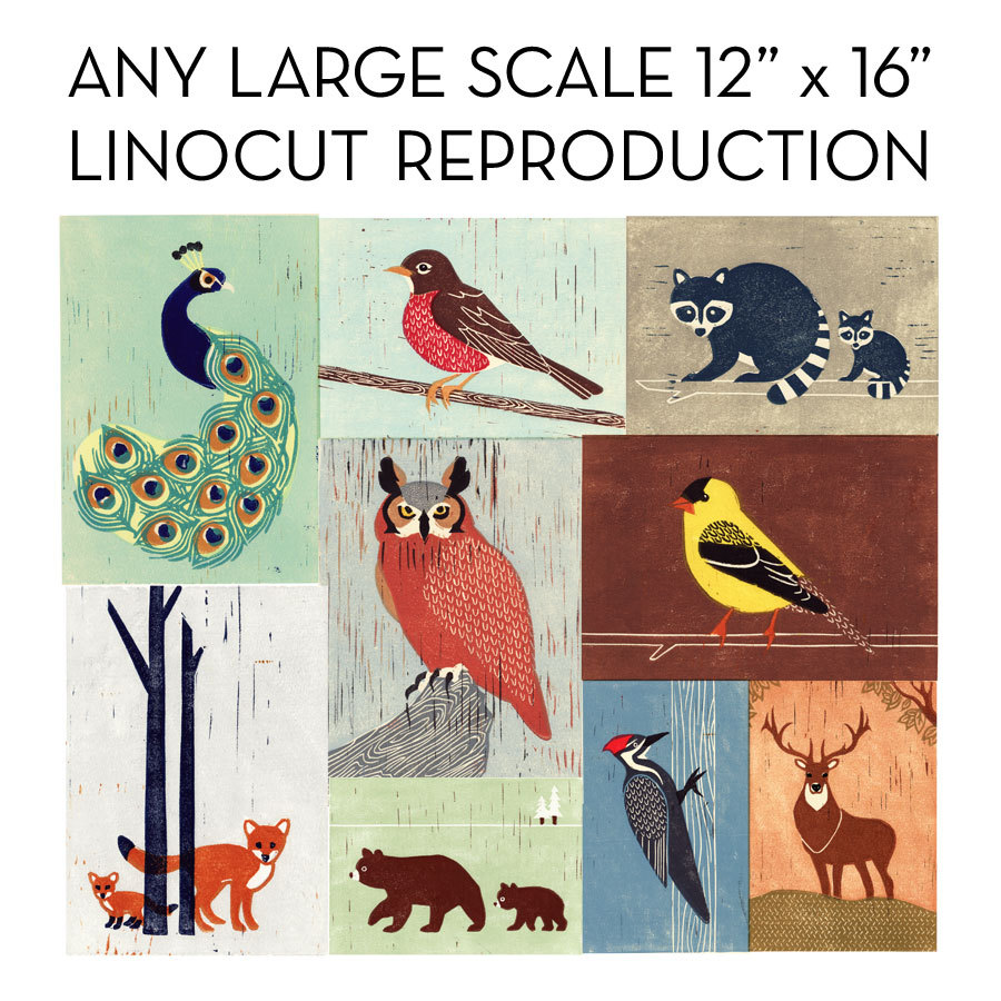 Any Poster Illustration Linocut Reproduction Print On Storenvy