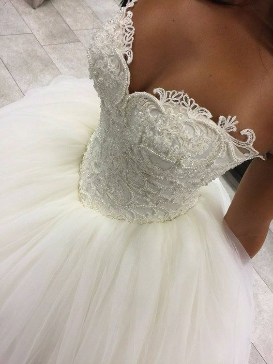 Unique Sweetheart Tulle Ball Gowns Wedding Dresses · dressydances ...