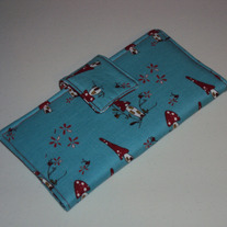 Woodland Blue & Red Wallet