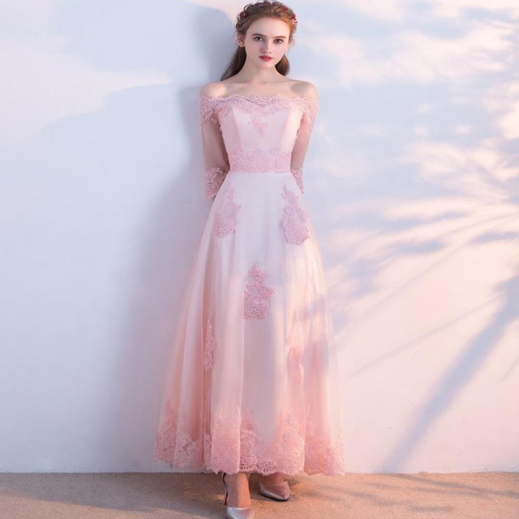half shoulder prom dresses