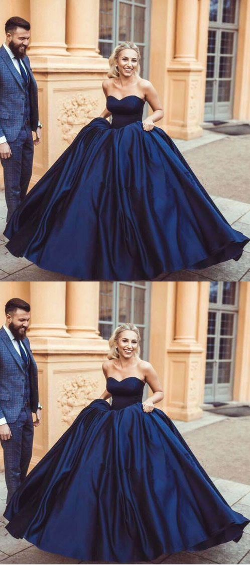 navy blue prom dresses, long prom dresses, ball gowns prom dresses ...