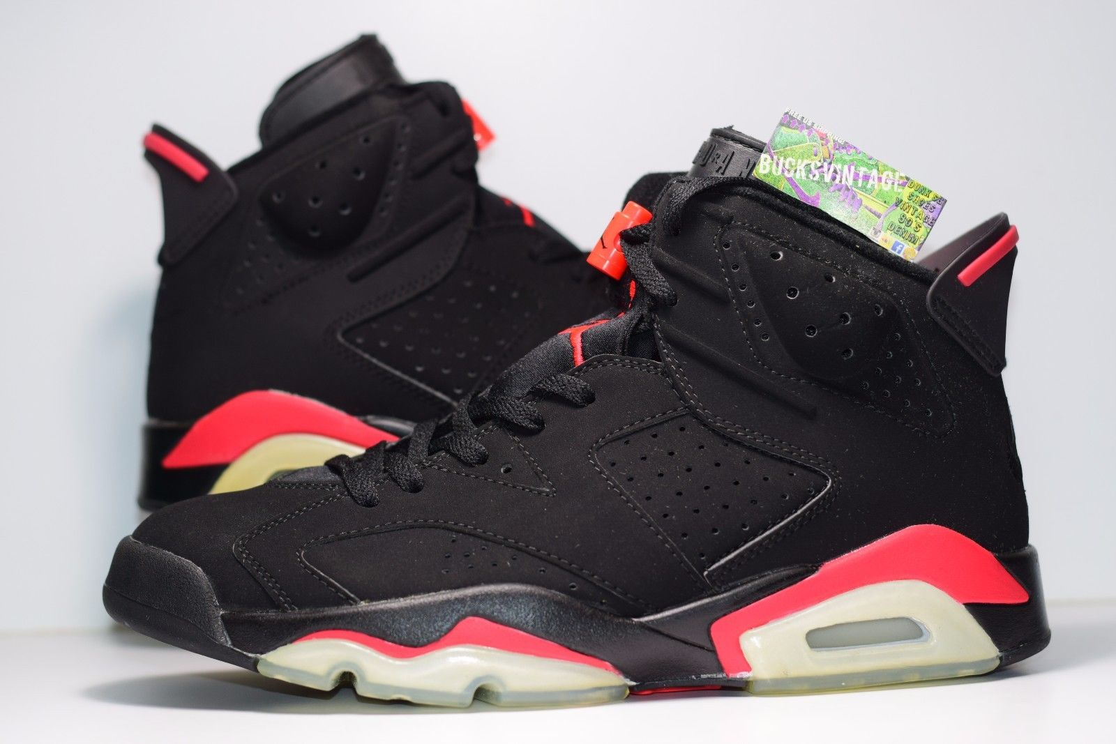 newest 3c2ea c6d89 Size 9   DS 2000 Nike Air Jordan VI 136038-061 black deep infrared
