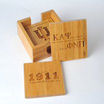 Kappa Alpha Psi Bamboo Coaster Set