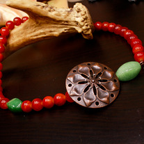 Red Cimarron Gemstone Choker Necklace
