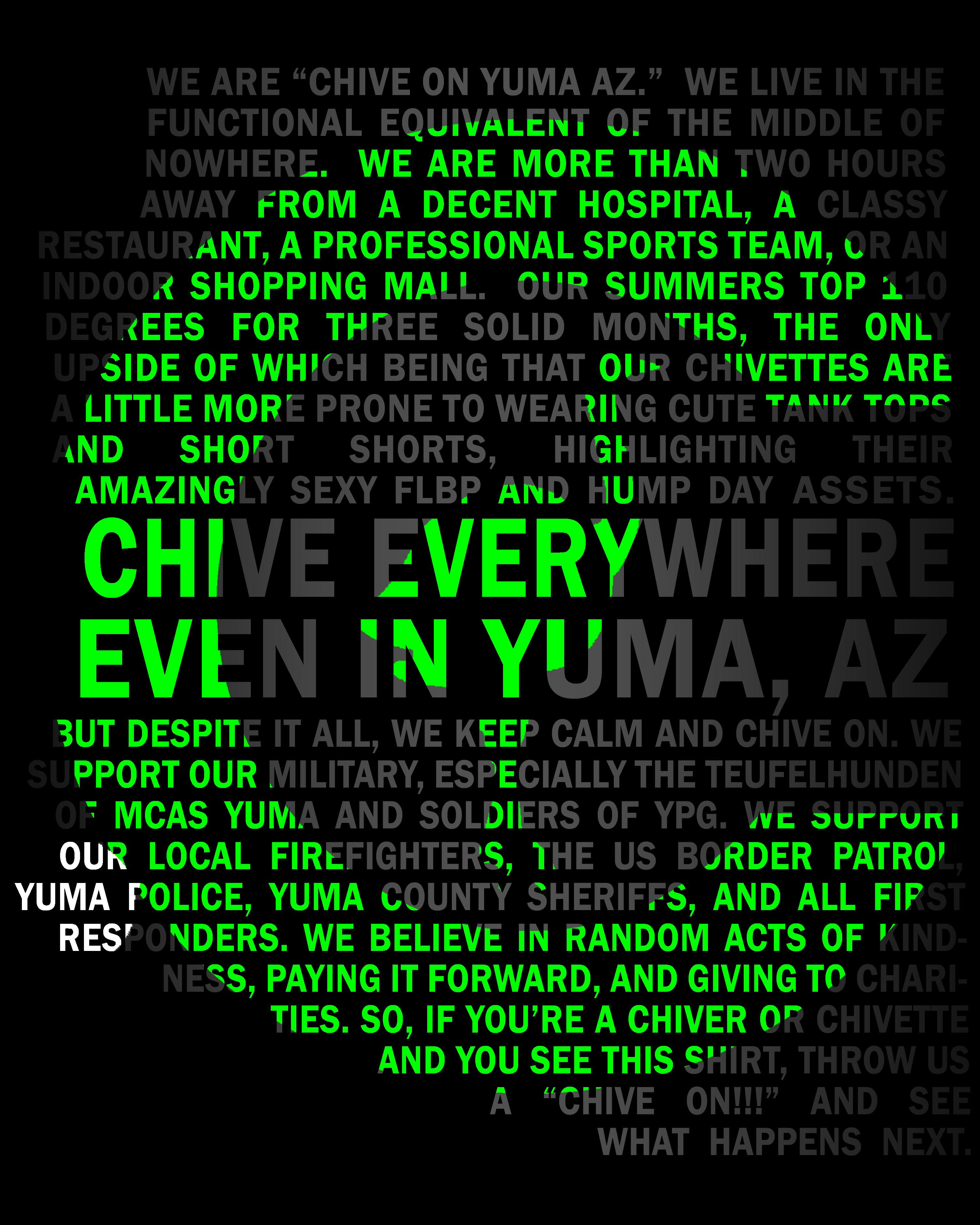 CHIVE ON YUMA AZ MENS SHIRT
