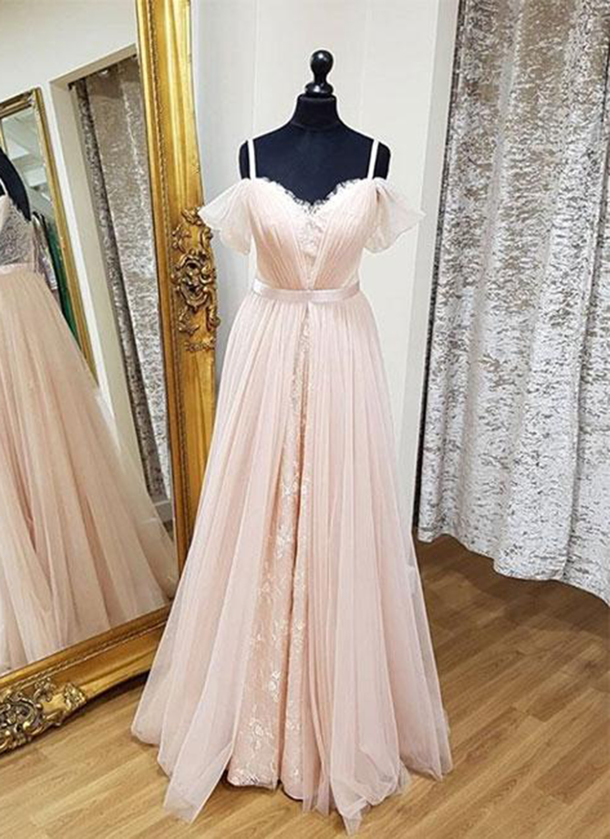 Cheap Prom Dresses by SweetheartDress · Sweetheart blush pink tulle ...