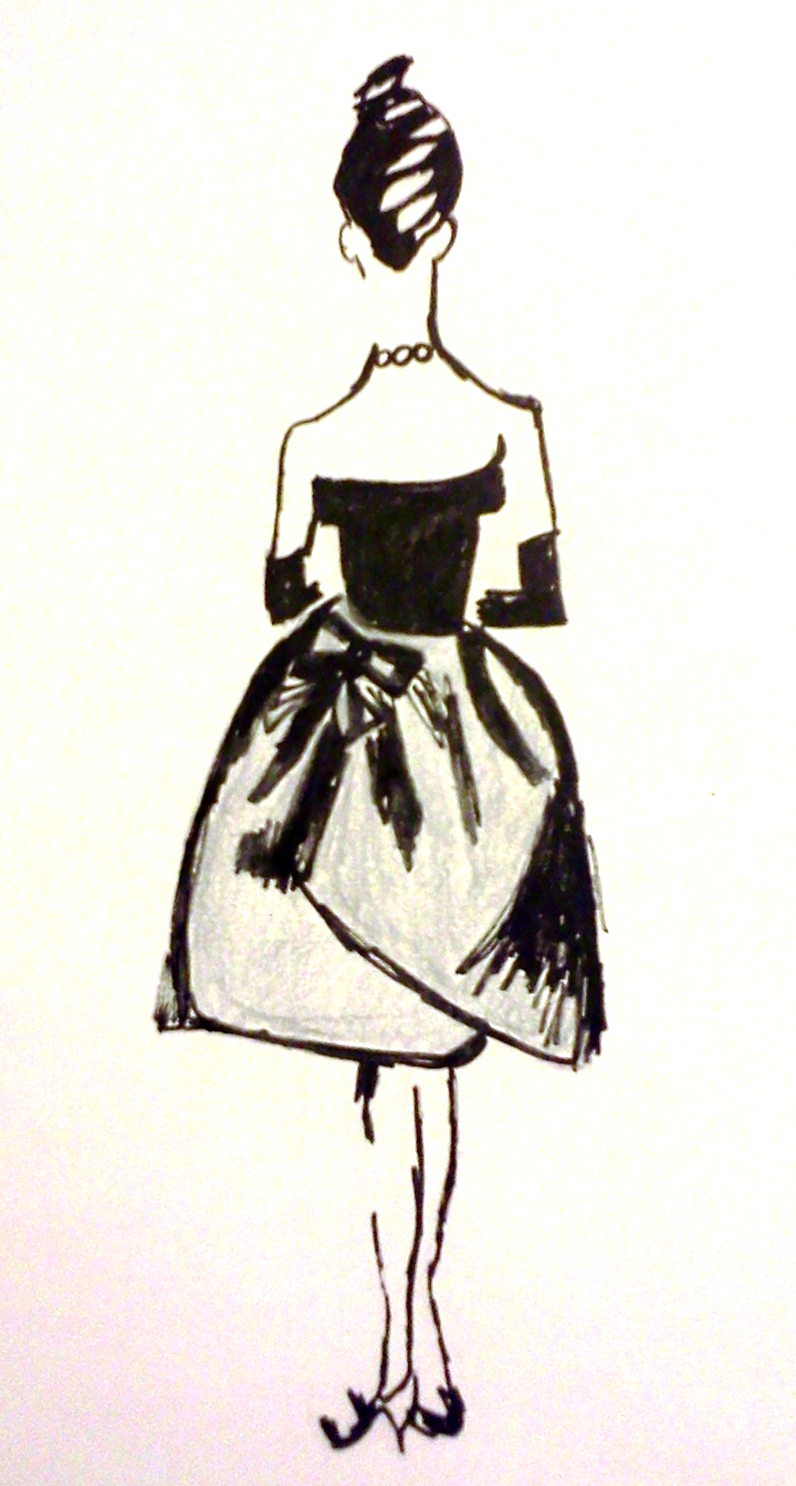 Things & Such Designs | French Woman Fashion Sketch | Online Store ...