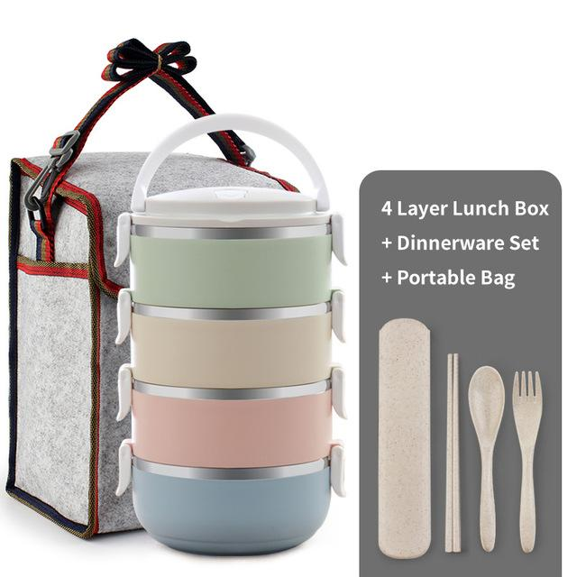 thermal bento lunch box set on storenvy. Black Bedroom Furniture Sets. Home Design Ideas