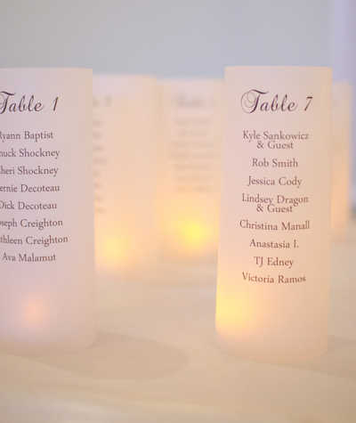 Seating Chart - Escort Table Luminarias
