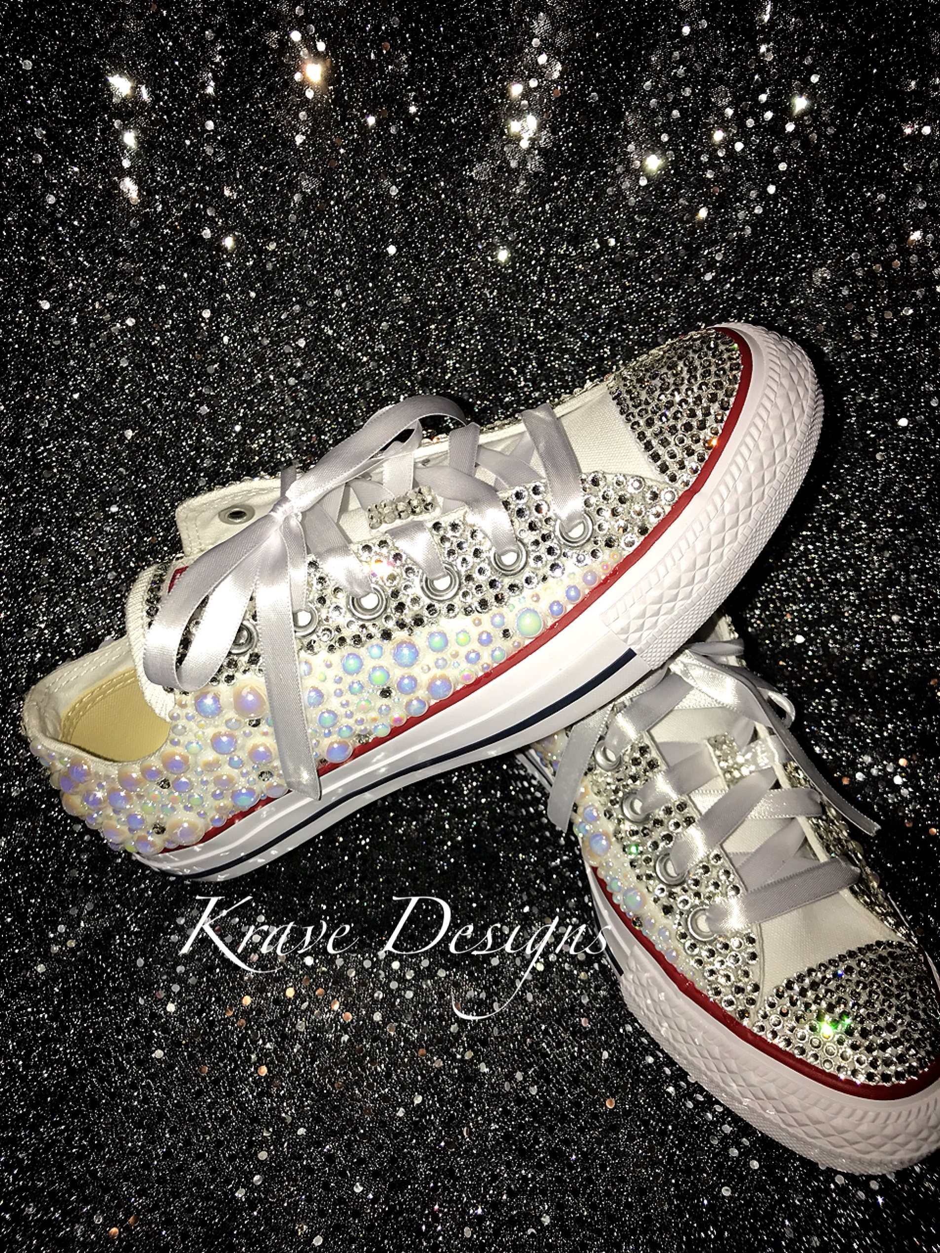 fe5fdf07b262 Adult Bling Chuck Taylor Lo-Top Shoes