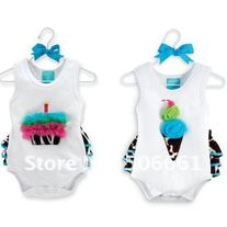 ON SALE FREE SHIPPING Cupcake or Ice Cream Girls Zebra Ruffle Bum Onesie