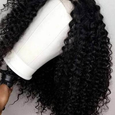 Deep curly human hair wig