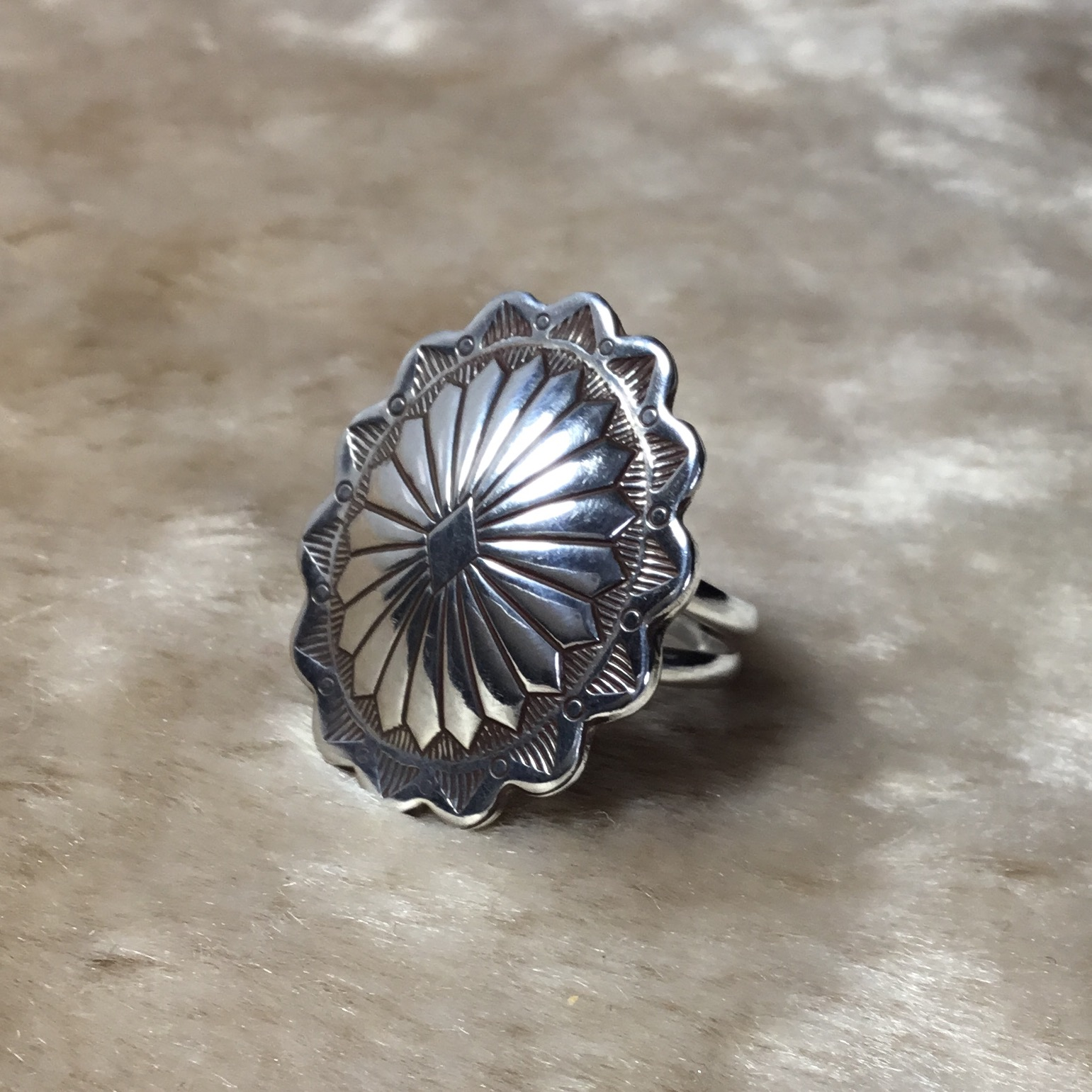 Large Concho Ring From RISH JEWELRY