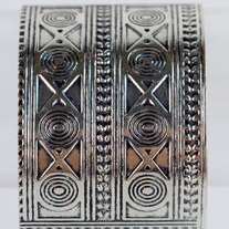 Silver Tribal Arm Cuff Bracelet (ON SALE)