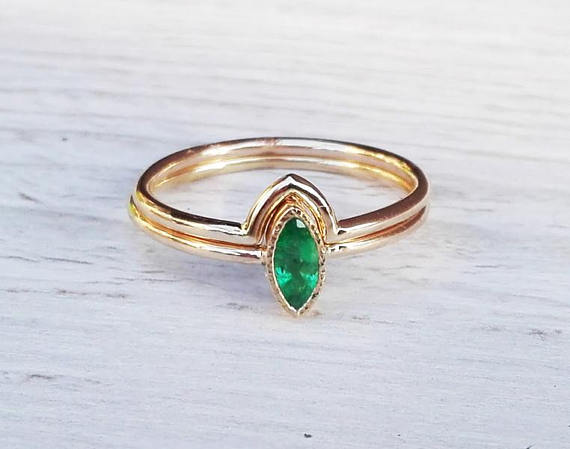 with enhancers wedding etsy of set ring emerald claddagh large diamonds size rings