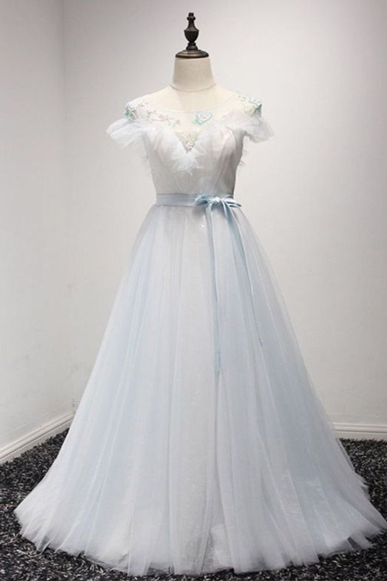 Beautiful White Tulle Sweet 16 Prom Dresses,Fashion Wedding Dress,MB ...