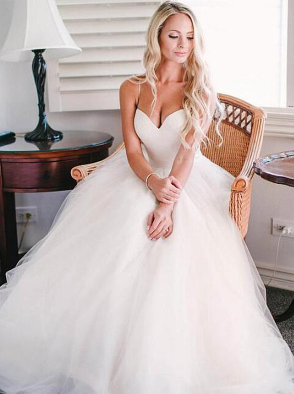 Spaghetti Straps Ivory Wedding Dress on Storenvy