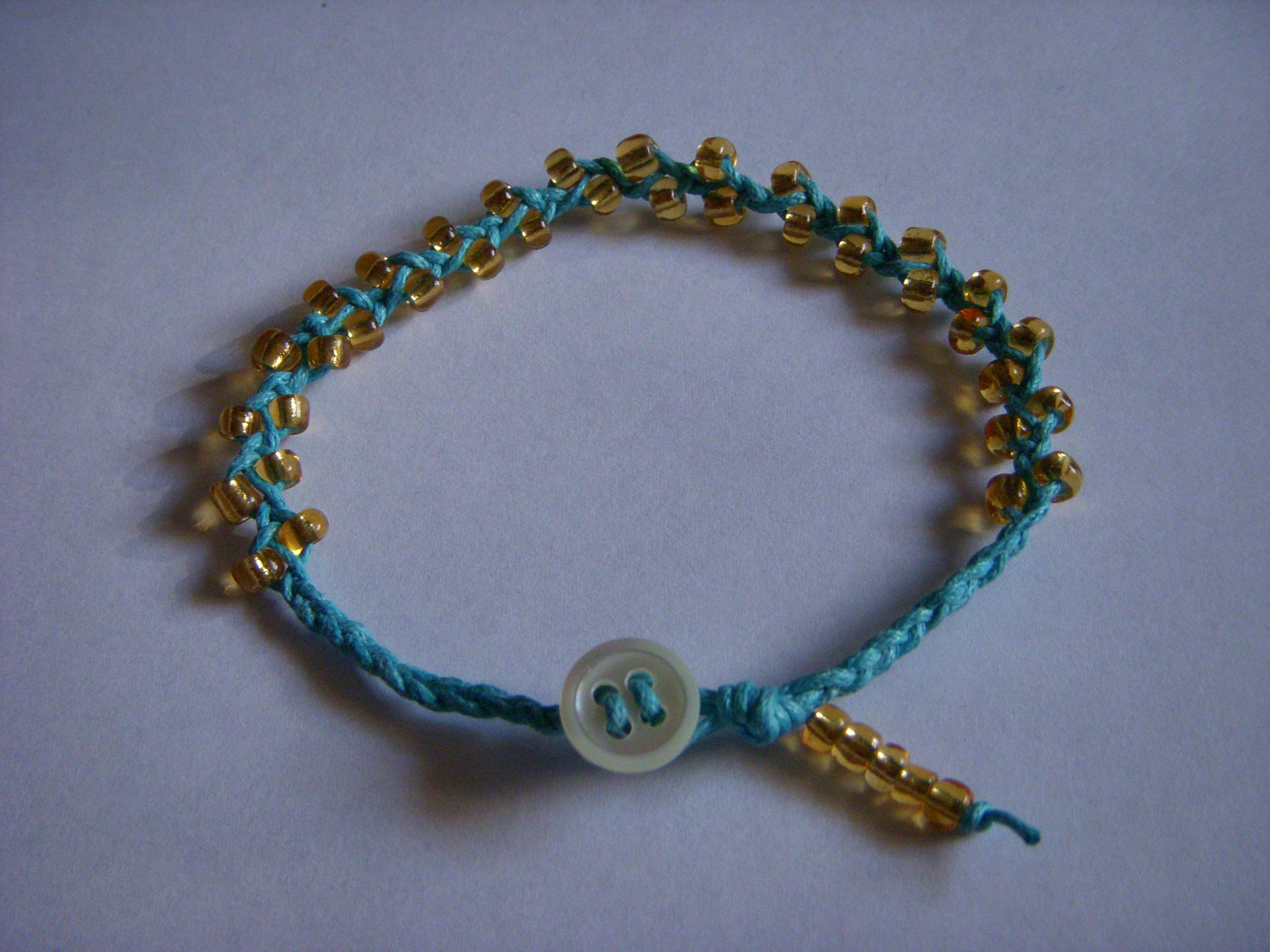Braided bead and bead bracelet 24
