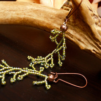 Branch Kelp Seed Bead Earrings