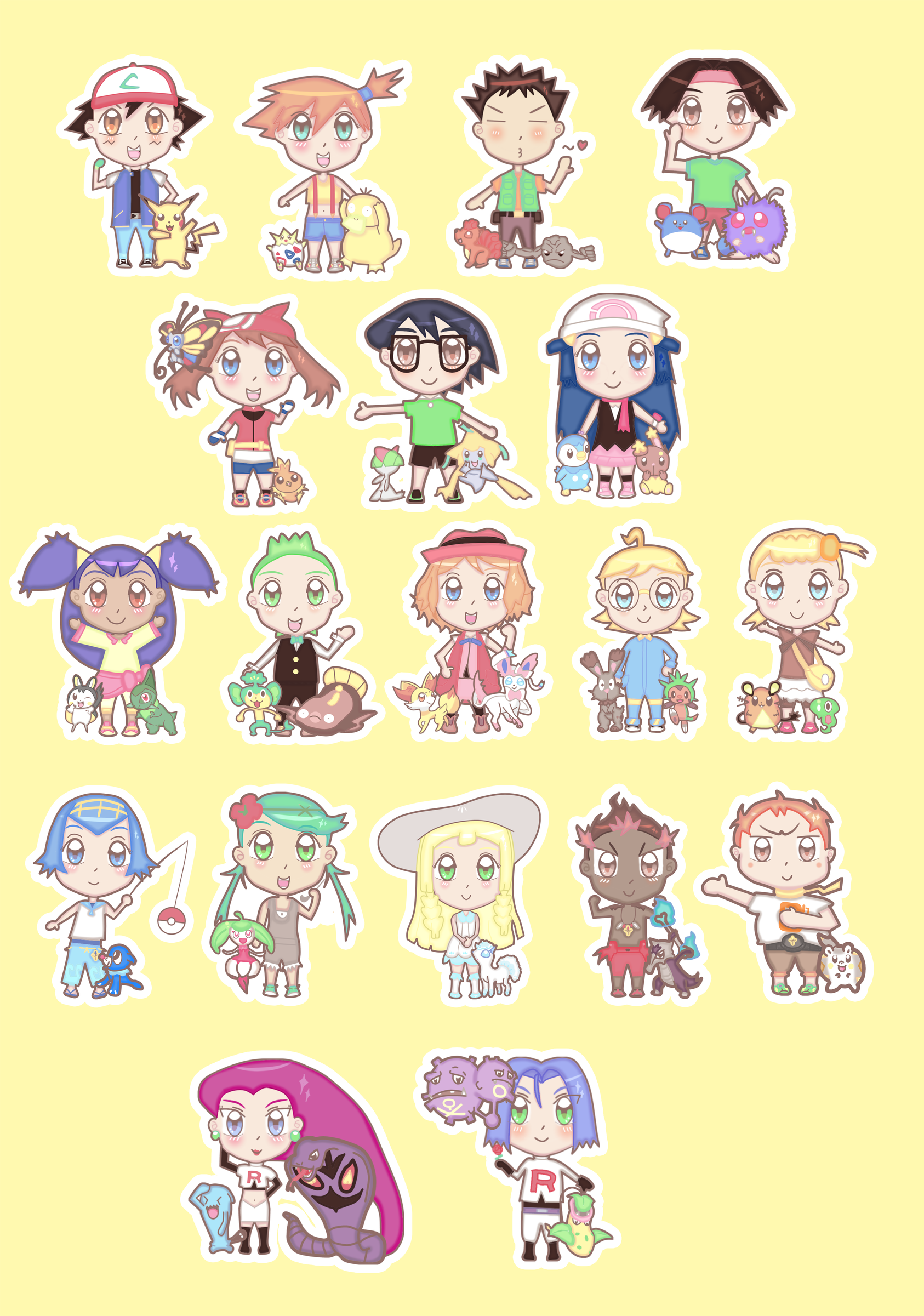 Pokemonanime Chibi Stickers Milktinarts Online Store Powered