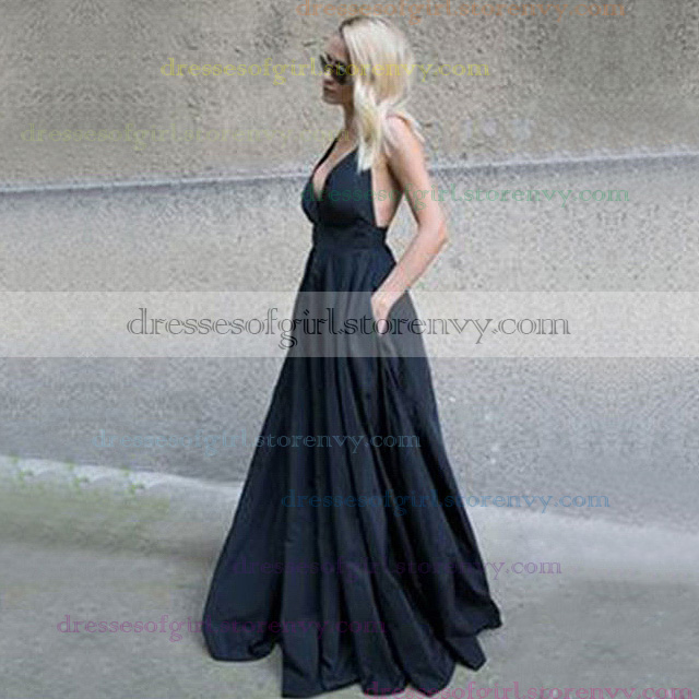 Long Prom Dressesblack Ball Gown V Neck Prom Dresses For Cheapsexy