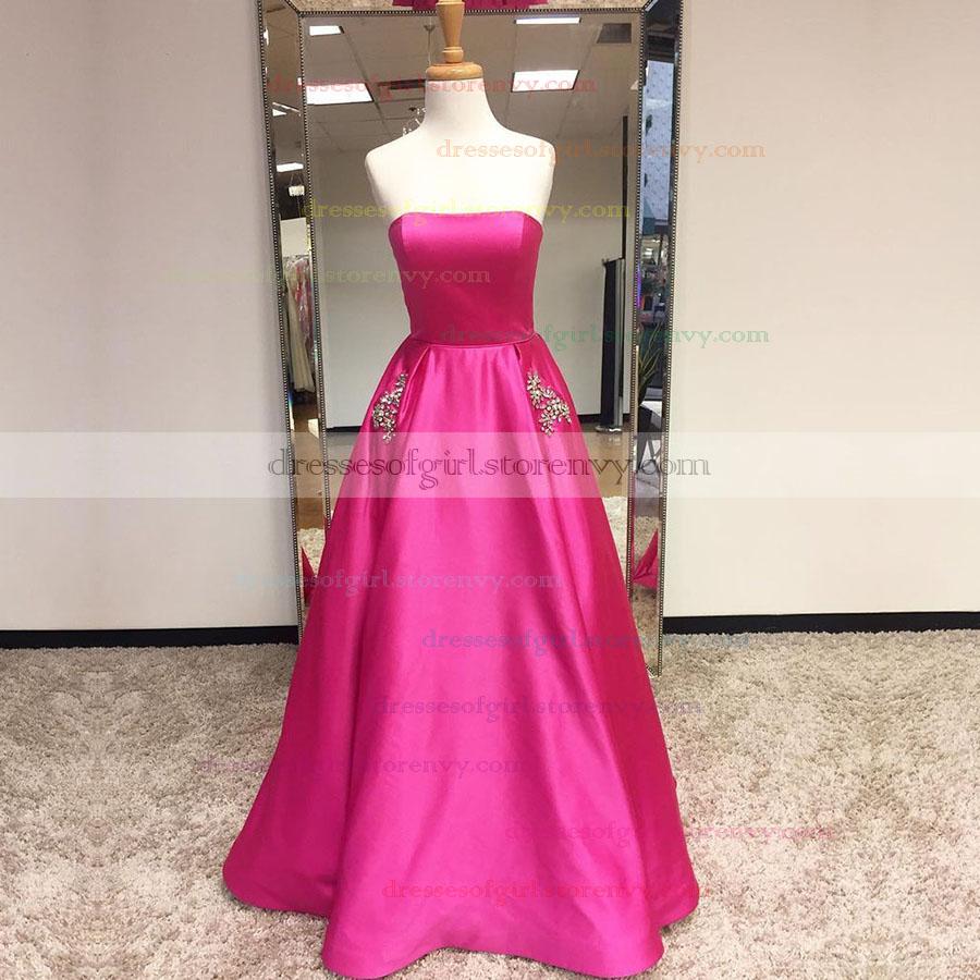 Long Prom Dresses,Princess Strapless Long Formal Dresses,Pretty ...
