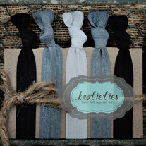 go team silver&black : original {knotieties} 10 pack