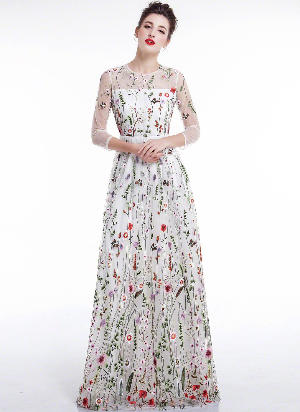 Watch - Evening floral dresses video