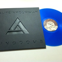 Kingdoms Transparent Blue Vinyl w/Black on Black Custom Die-Cut Sleeve