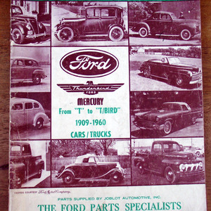 Fords 1909 to 1960 Parts Ref Catalog