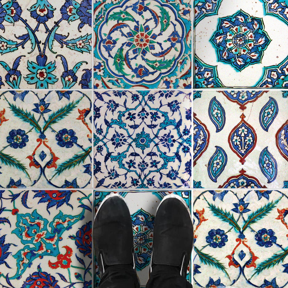 Istanbul Tile Stickers, Turkish Tile, Suitable for Wall and Floor ...