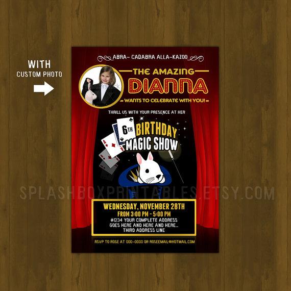 Magic Show Birthday Invitation