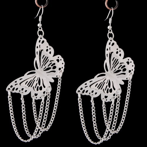 Butterfly Chained Earrings 183 Sophisticates Closet 183 Online