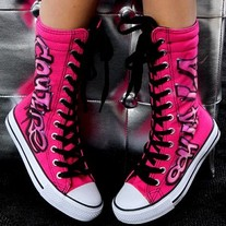 Penelope Wildberry Hot Pink Ooh La La Couture High Tops