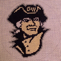 George Washington University Colonials Ornament Canvas on 18 Mesh