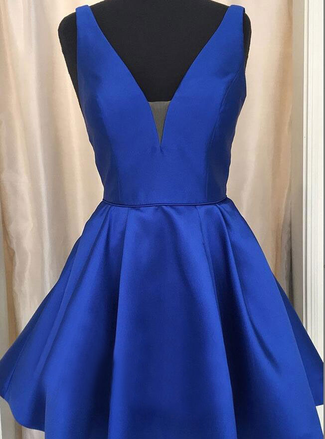 Plus Size Royal Bluesky Blue Short Homecoming Dresses Under 100